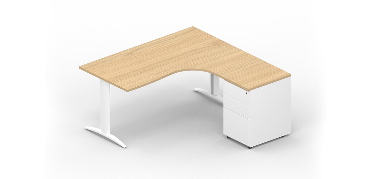 Asymmetrical compact desk