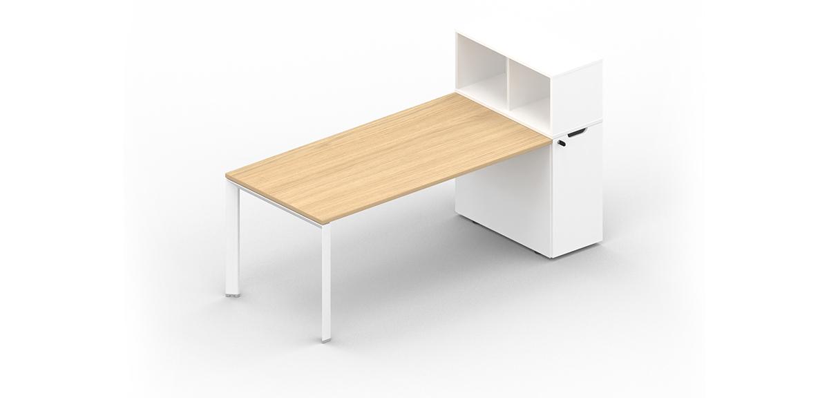 Desk with storage system