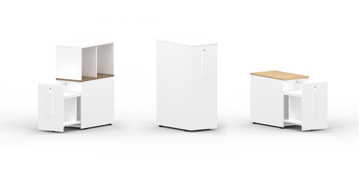 Freestanding extendable storage module